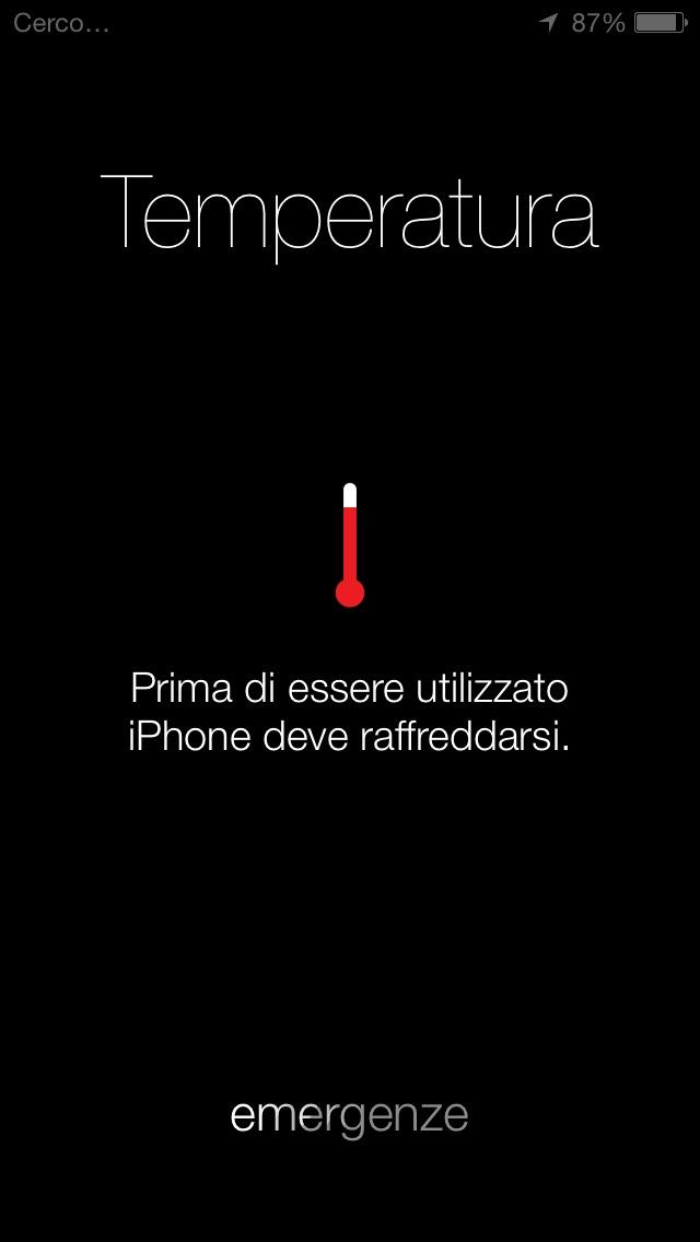 temperatura elevata iphone