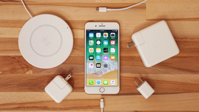 huge selection of 0385a 88ad7 Comparing iPhone 8 charging speeds with fast charge, wireless and ...
