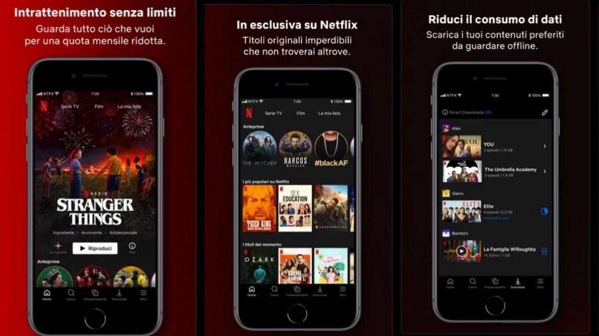 Netflix per iphone